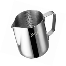 Barista Milk Frother Pitcher Stainless Steel Cup Frothing Steaming Kitchen 20 Oz