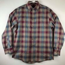 Jos a Bank Travelers Collection Long Sleeve Plaid Dress Shirt Mens Size Medium M
