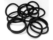 HAARGUMMIS schwarz 1 SATZ - 12 Stück elastisch *