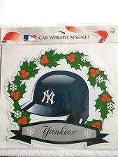 Ny New York Yankees Christmas Holiday Wreath Helmet Sign Fridge Car Magnet Xmas