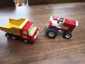 Vintage 1970s Tonka Dump Truck and Tonka Tractor