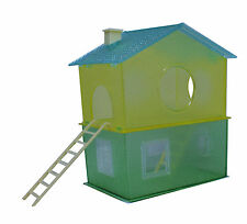 TWO STOREY HOUSE with two ladders, a fun home for mice and small hamsters