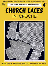 Weldon's 4D #42 c.1930 Pattern Book to Make Antique Church Laces in Crochet