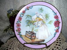 Decorative Victorian Plate of Little Girl fishing by Hamilton