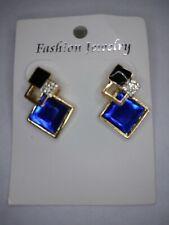 Blue Geometric Diamond Shaped Earrings