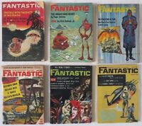 Lot of 6 FANTASTIC sci-fi fantasy MAGAZINE Piers Anthony Robert Bloch 1963-1969