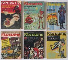 Lot of 6 FANTASTIC sci-fi fantasy MAGAZINE Piers Anthony Robert Bloch 1963-1969