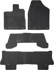 🔥Genuine OEM Rubber Black High Wall All-Season Floor Mats for Honda Pilot🔥