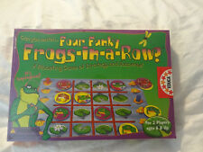 EDUCA Board Game Four Funky Frogs in a Row NEW Sealed