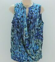 CLEARANCE ~Charlie Jade~Women~Sleeveless Top~Blue / Green Pattern~Small~TAG$48