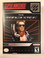 The Terminator - Super Nintendo - Replacement Case - No Game