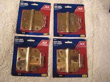 Real Solid Brass hinges 3 1/2 inch 5/8 radius 6 screws 4 hinges
