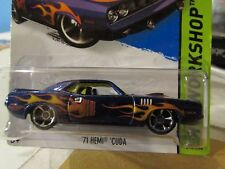 Hot Wheels '71 Hemi Cuda HW Workshop Purple