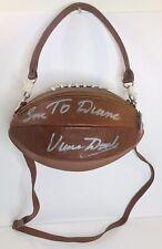 Vince Dooley autographed Georgia Officially Lic Collegiate Yima Football Purse