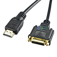 30cm DVI 24+5pin Female To HDMI Male Plug Cable Gold-Plated Lead PC LCD HD TV
