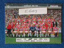 "Football Postcard - 6""x4"" - PSV Eindhoven - 1992/93"
