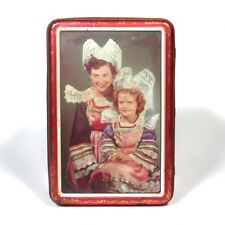 Vintage French Candy Tin Box, Woman and Girl in Traditional Costumes of Brittany