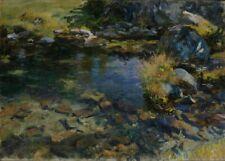 Alpine Pool, 1907, JOHN SINGER SARGENT Classic Impressionism Poster