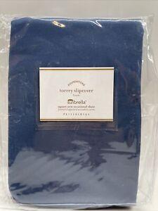 PB Torrey Square Arm Lounge Chair Cushion Slipcover, Sunbrella® Sapphire