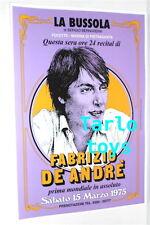 FABRIZIO DE ANDRE' - Bussola, M. di Pietrasanta, 15 marzo 1975 poster concerto