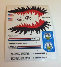 GI Joe Tiger Force Tiger Shark Sticker Decal Sheet
