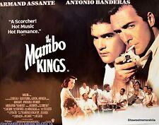 THE MAMBO KINGS 1992 Quad drama music Poster  Armand Assante Antonio Banderas