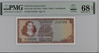 SOUTH AFRICA 1 RAND ND 1975 P 116 b SIGN # 5 15TH SUPERB GEM UNC PMG 68 EPQ TOP