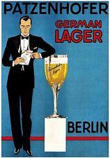 Magnet Advertising Advertisement for German Lager Patzenhofer