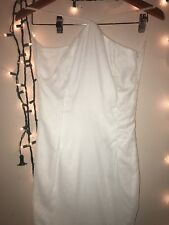 100% pure white velvet backless dress size small handmade in bahrain