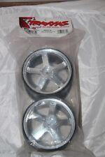 TRAXXAS - Jantes HURRICANE 3.8 - 2 PCS - 117 X 7.1  mm  Chromées - ref 5373