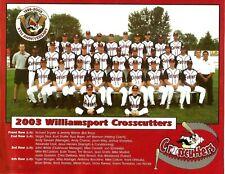 Williamsport Crosscutters 2003 Team Photo 8X10
