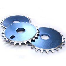 "BICICLETTA BMX BICICLETTA CNC PARACATENA chainwheel Blu 25 T X 1/8"" CHAIN RING 25 DENTI"