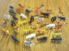 "40 NEW ZOO ANIMALS 2"" TOY PLAYSET WILD JUNGLE GORILLA ZEBRA TIGER LION SAFARI"
