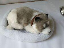 new simulation gray husky dog plush sleeping husky gift about 25cm