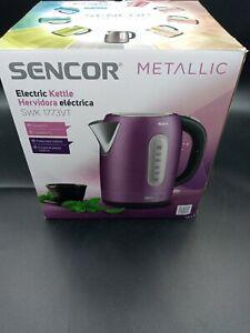 Sencor 1.7LStainless Steel Electric Tea Kettle in Metallic purple