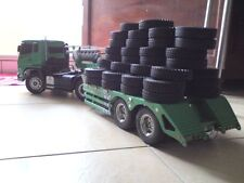 Set 4X 1/14 Rubber Tires For Tamiya  RC 1:14 Tractor Truck Trailer Climbing Car