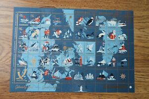 Denmark 1959 Christmas Seal mint sheet of 50 stamps MNH