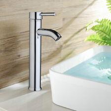 New listing Deck Mounted Chrome Basin Faucet Single Lever Lavatory Vessel Taps Sink Mixer