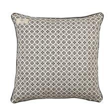 Kissenhülle Kissenbezug Kissen 'Mood' 45 x 45 grau weiß Baumwolle Landhaus Retro