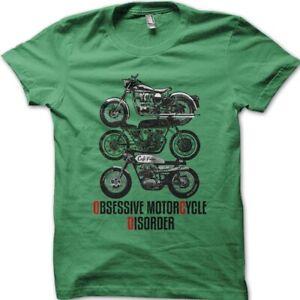 Biker Obsessive Motorcycle Disorder Cafe Racer t-shirt 9049