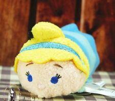 "Disney TSUM TSUM Cinderella Mini Soft Plush Toys Dolls Gifts With Chain 3.5""/9cm"