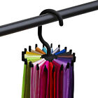 Rotating Tie Rack Adjustable Tie Hanger Holds 20 Neck Ties Tie Organizer For Men