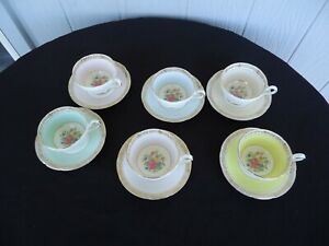 vintage royal bone china tea coffee set floral harlequin england