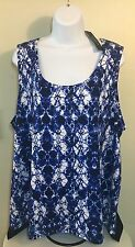 NEW Women's Jones New York Navy Blue Tunic Top Blouse Nautical Print NWT $54.