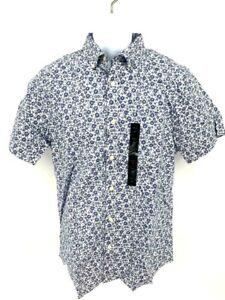 Banana Republic Mens Stretch Soft Wash Slim Fit Short Sleeve Casual Shirt - New