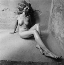 """GARY WATERS LILY AGAINST THE WALL NUDE STUDY 10""""X10"""" PHOTOGRAPH SIGNED ORIGINAL"""