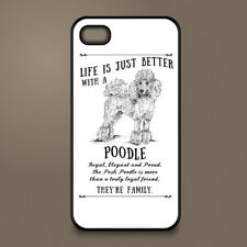 Poodle dog phone case cover Apple iPhone Samsung Galaxy ~ Personalised