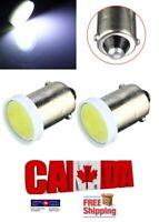 2pcs COB Ceramic White 6000k LED BA9S T11 Map Dome License Plate Light Bulb