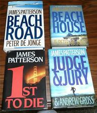 lot of 4 James Patterson Hardcovers: Beach House / Beach Road / Judge & Jury +++