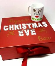 Personalised xmas eve box with magnetic strip Size 28.5x29